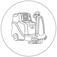 Ride on scrubber icon