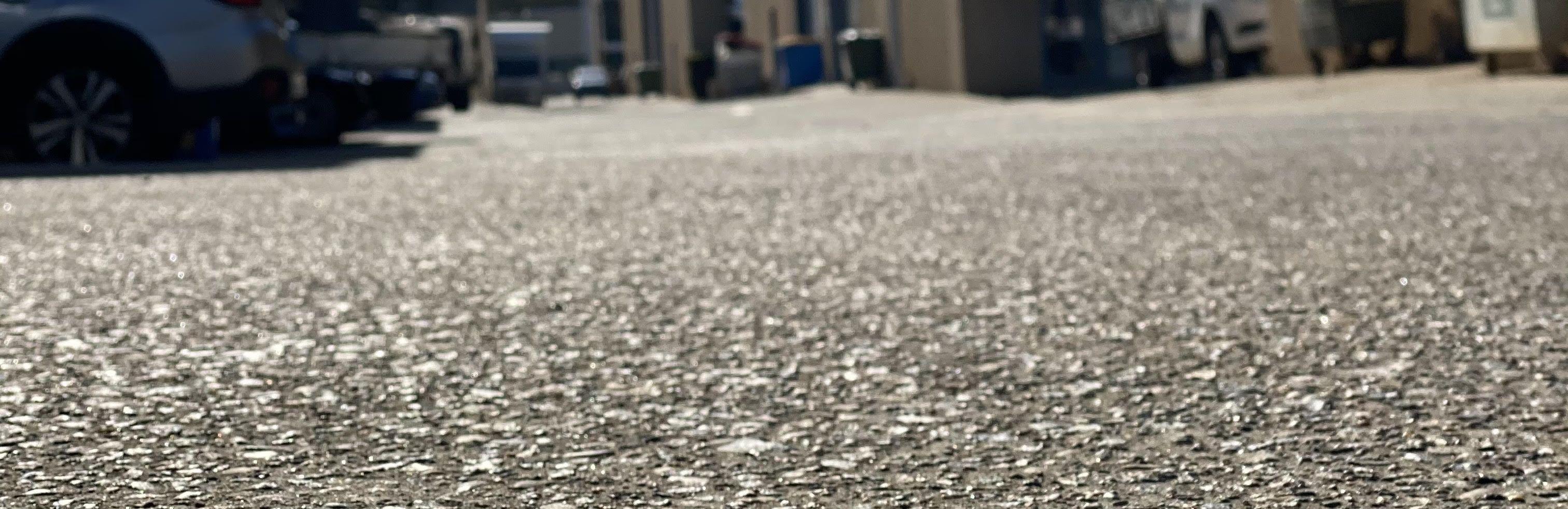 Car Park Pebble Road Material