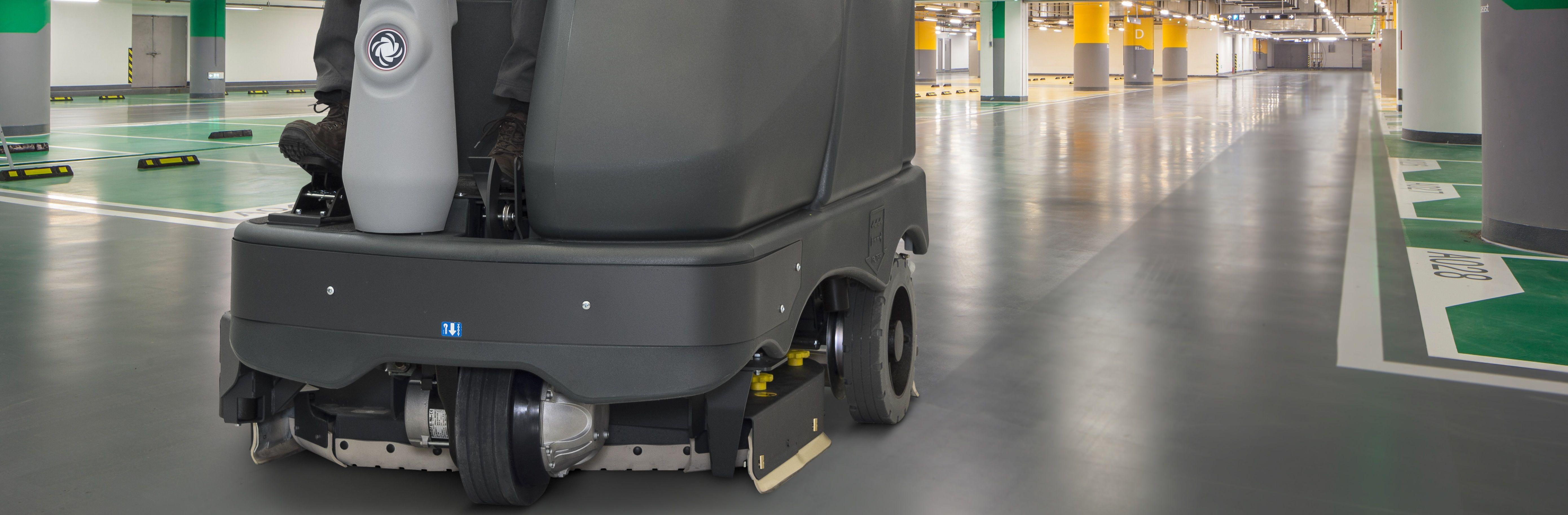 Nilfisk SC6500 Scrubber Dryer Cleaning Internal Carpark