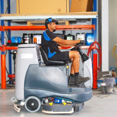 BR855 battery powered Ride-On Scrubber Dryer