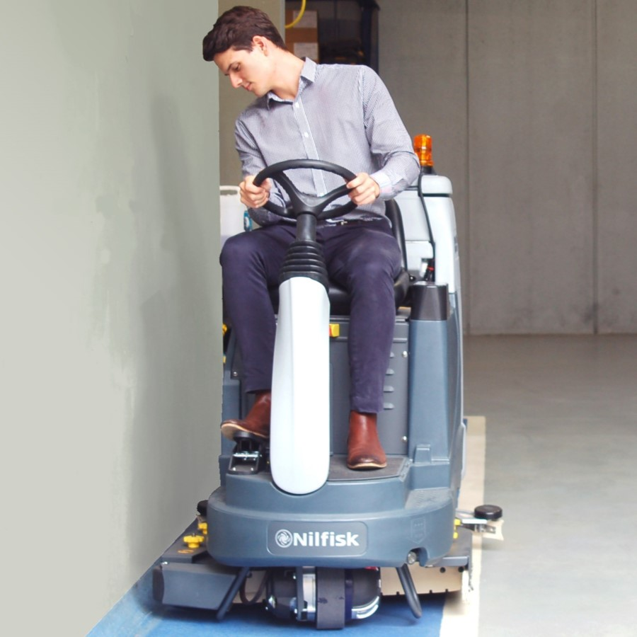 Hire BR855 Battery Powered Ride-On Scrubber Dryer