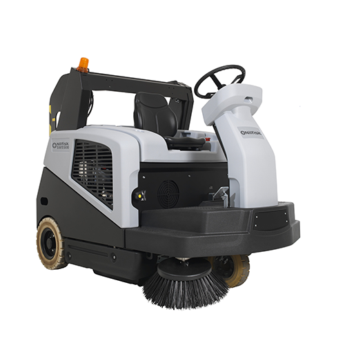 Nilfisk SW5500 Battery Powered Ride-On Sweeper