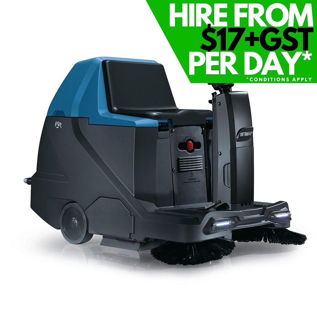 Hire of Fimap FSR Ride-On Battery-Powered Sweeper