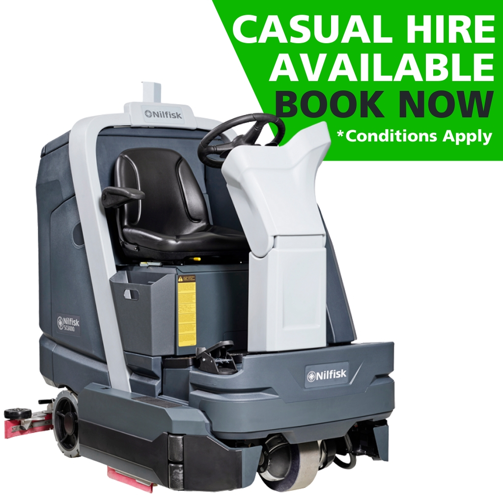 Hire of Nilfisk SC6000 Ride-On Disk Scrubber Dryer