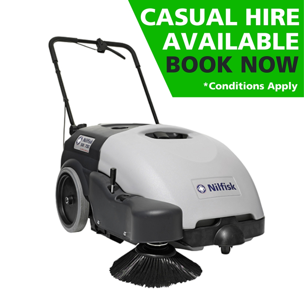 Hire of Nilfisk SW750 Walk-Behind Sweeper
