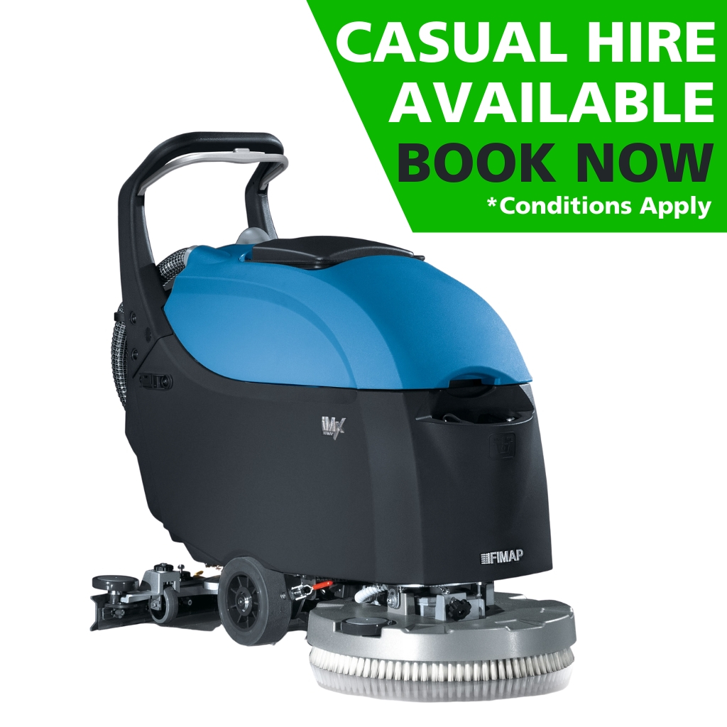 Hire of Fimap iMx50B Base CB Walk-Behind Scrubber Dryer