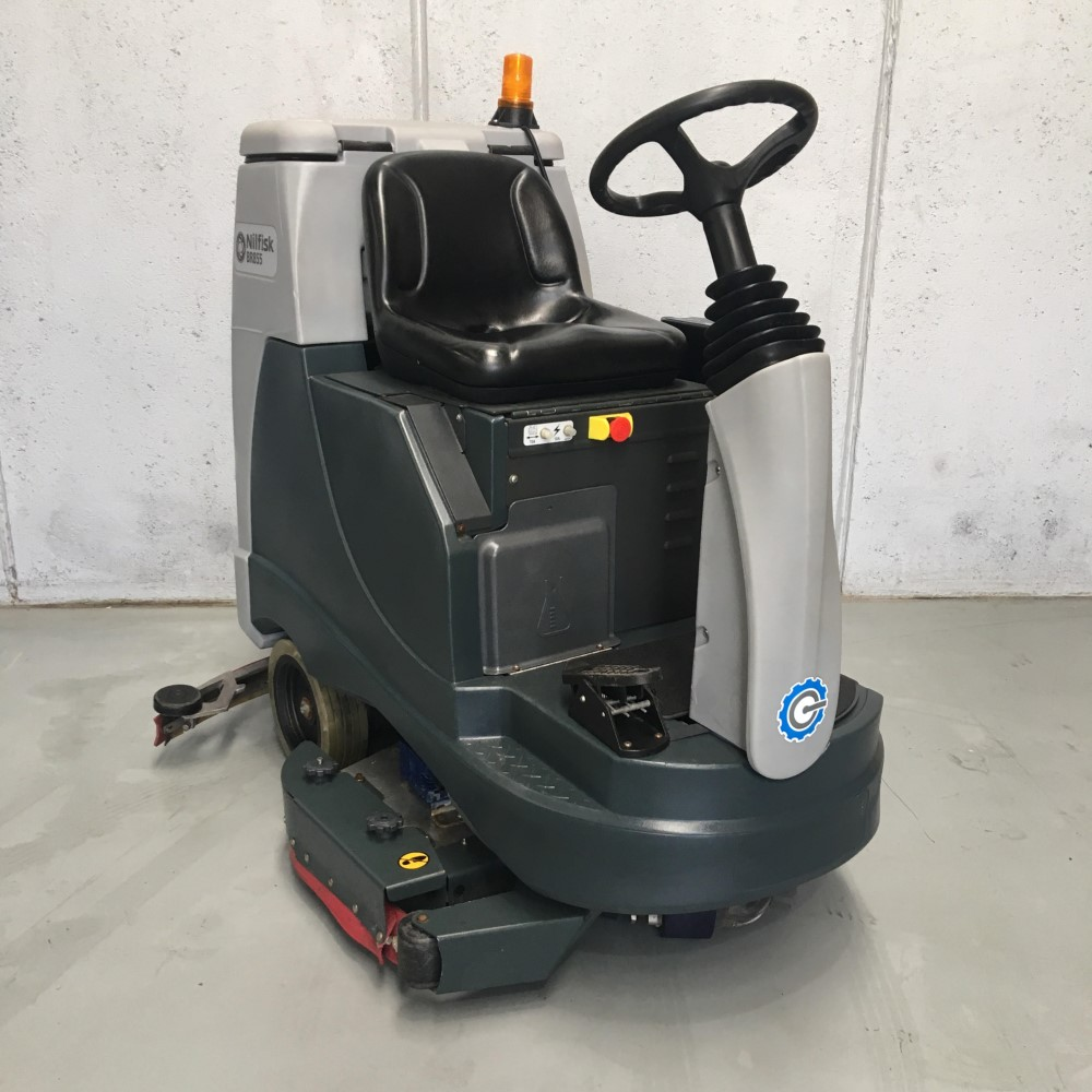 [56601015PA] Second Hand BR855 Battery Powered Ride-On Scrubber Dryer